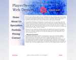 PlayerSeven Web Design - Old Homepage